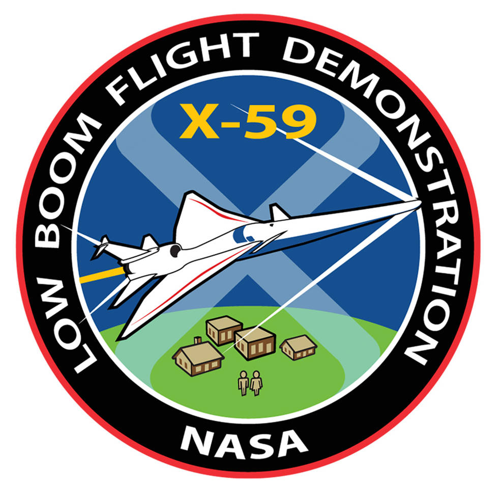 Logo project pesawat supersonic X-59 Quesst, buatan Lockheed Marthin.
