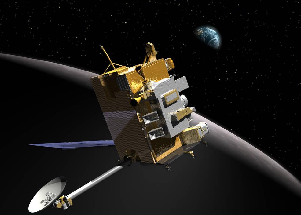 Ilustración del orbitador de reconocimiento lunar.