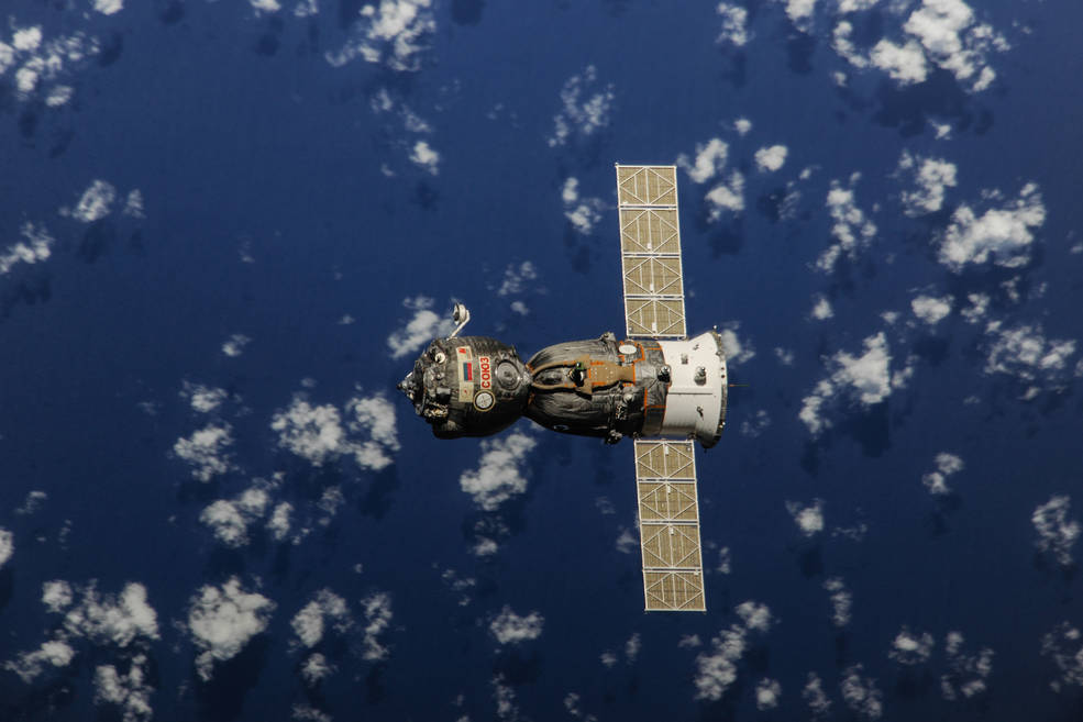 Soyuz spacecraft departs