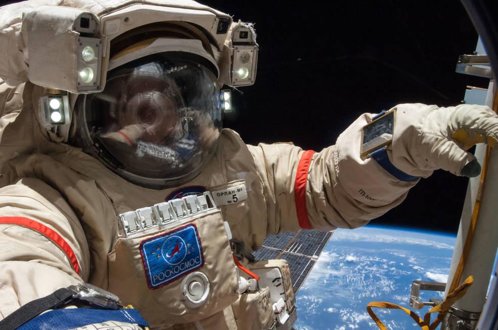 Russian cosmonaut Alexander Skvortsov