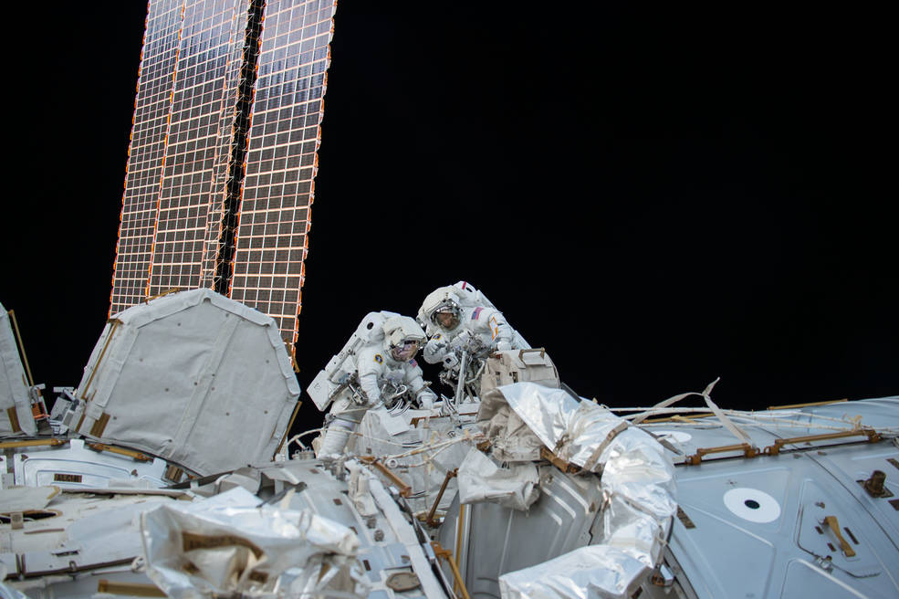 NASA astronauts Randy Bresnik and Mark Vande Hei