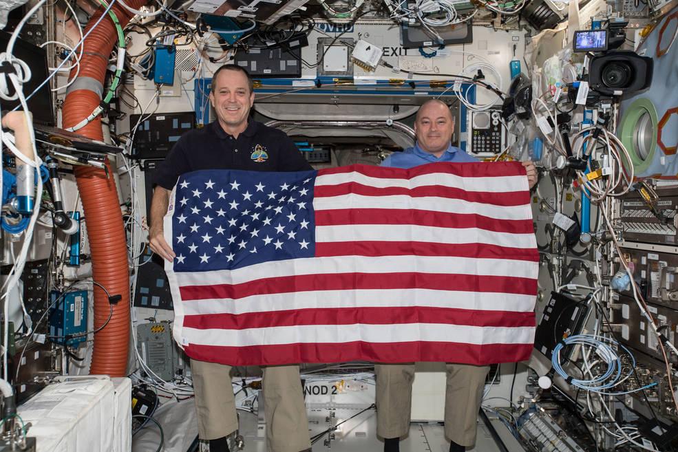 NASA astronauts Ricky Arnold and Scott Tingle