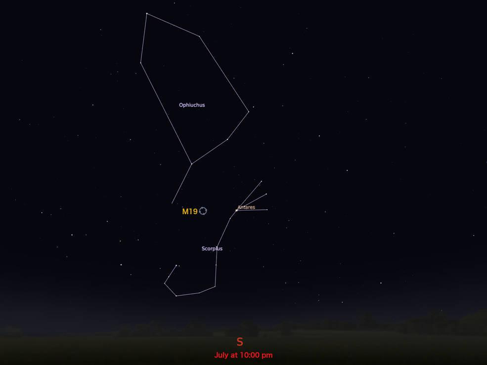 locator star chart for M19