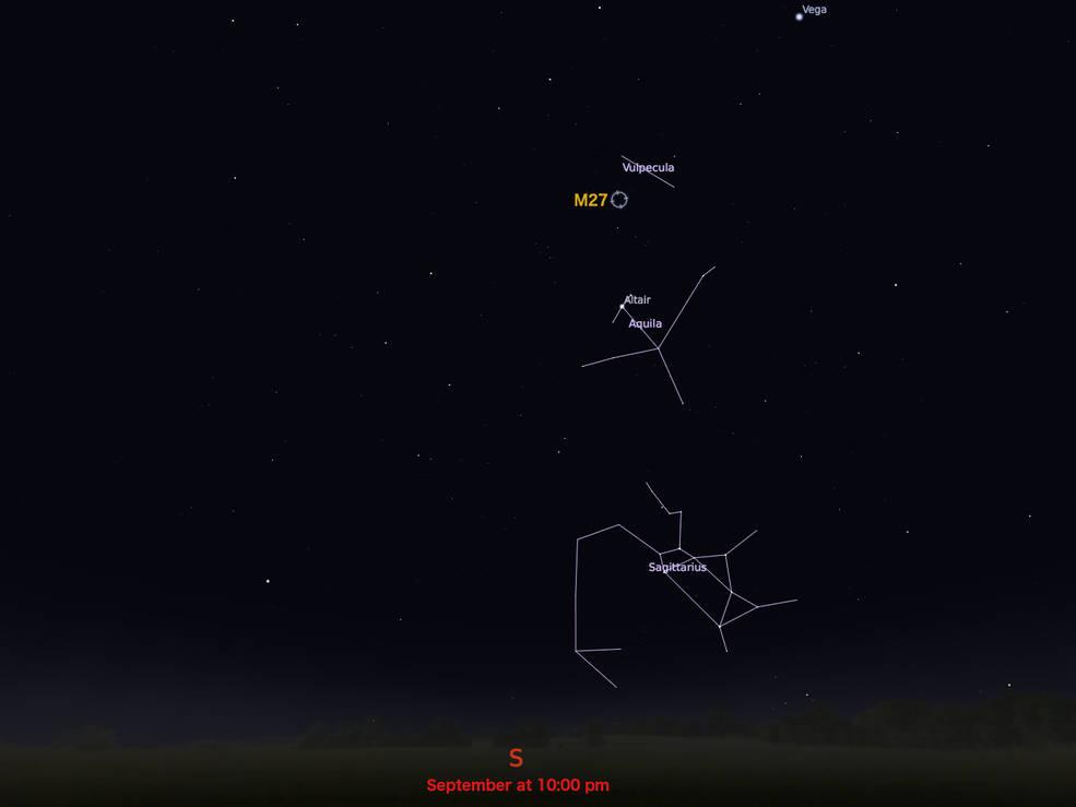 locator star chart for M27