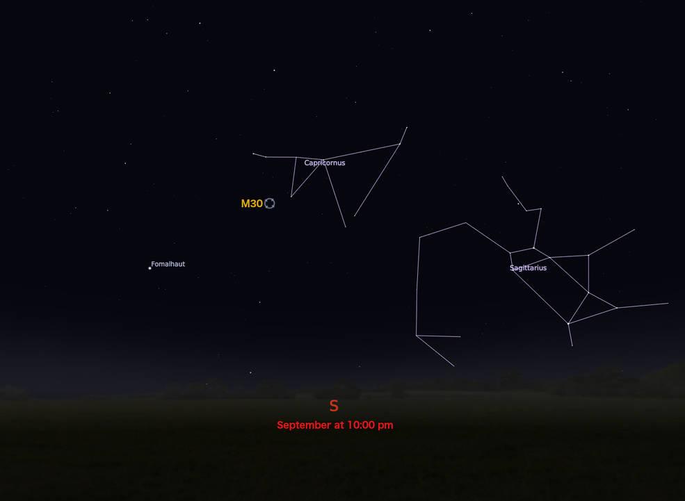 locator star chart for M30