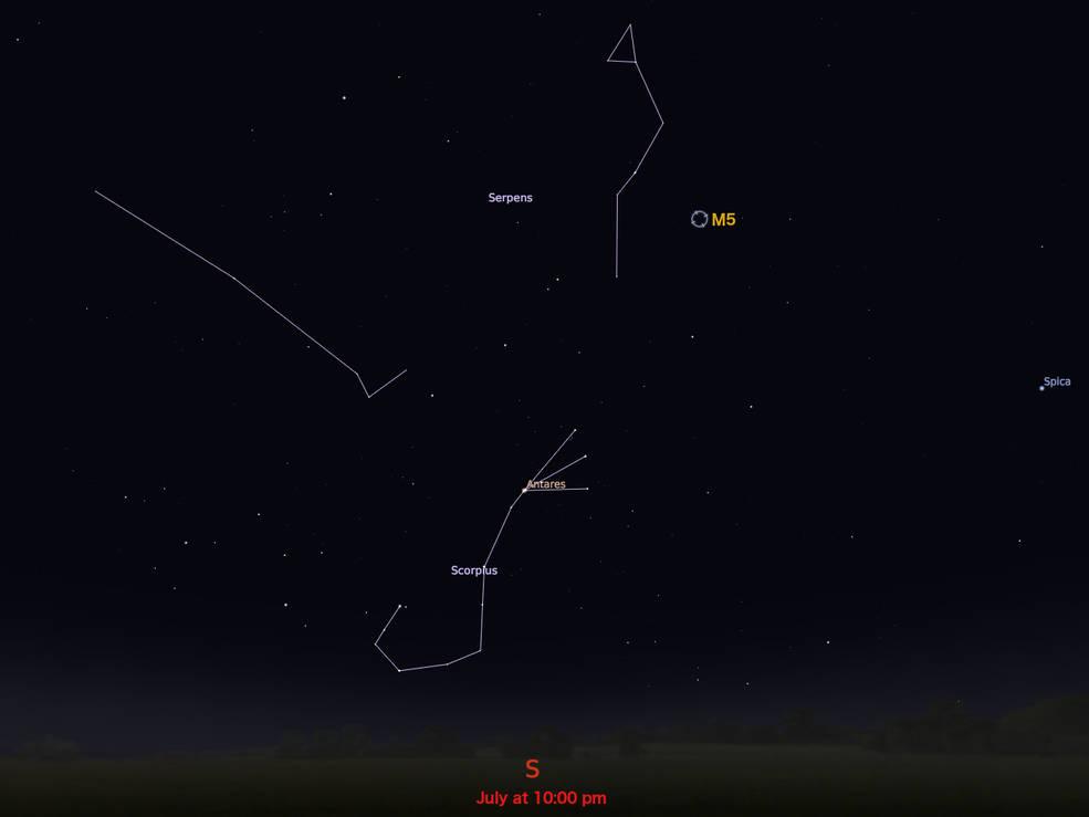 locator star chart for M5