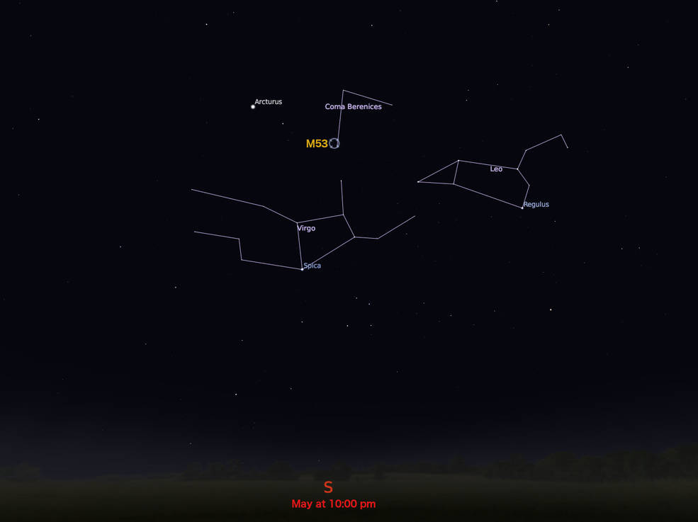 locator star chart for M53