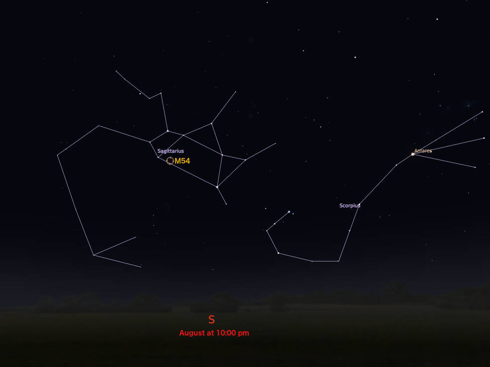 locator star chart for M54