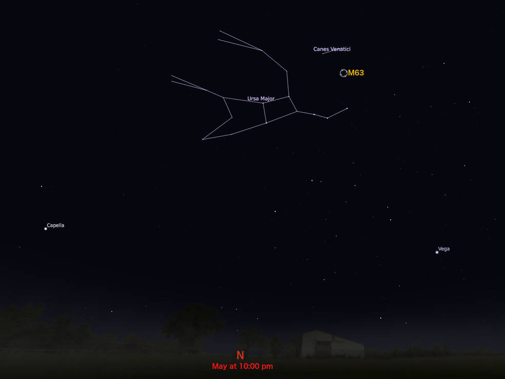 locator star chart for M63