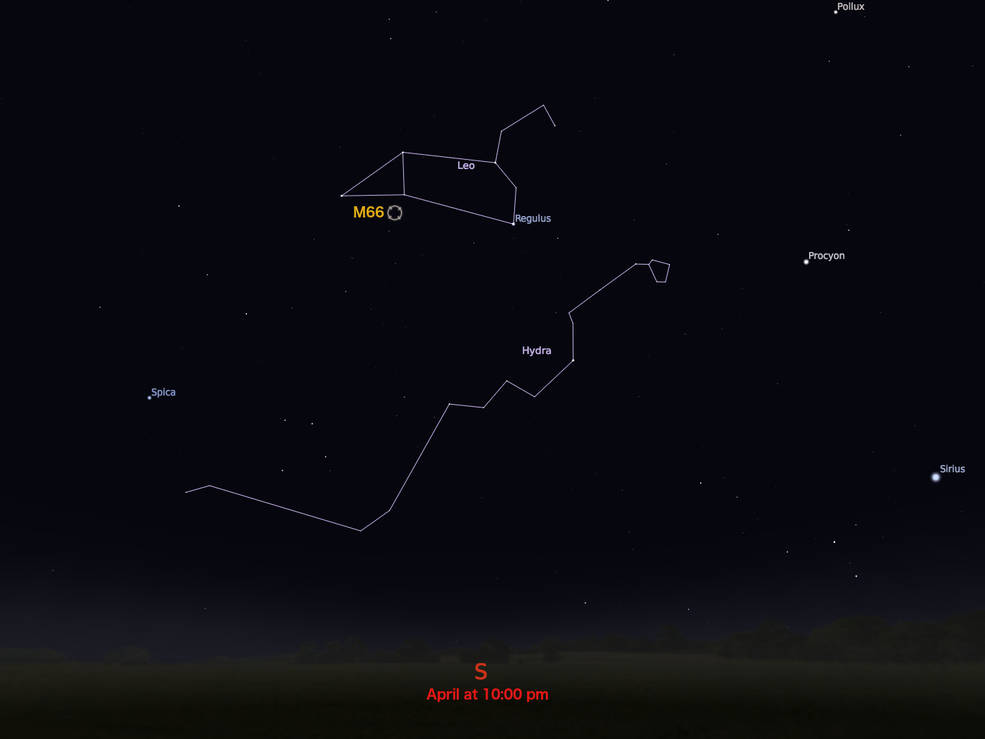 locator star chart for M66