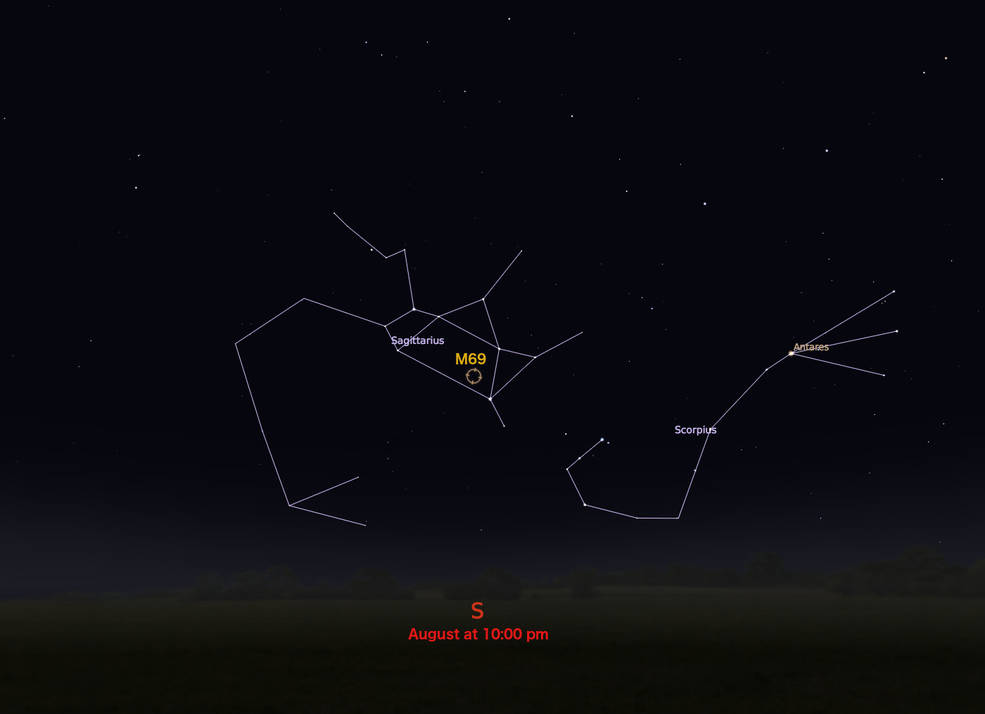 locator star chart for M69