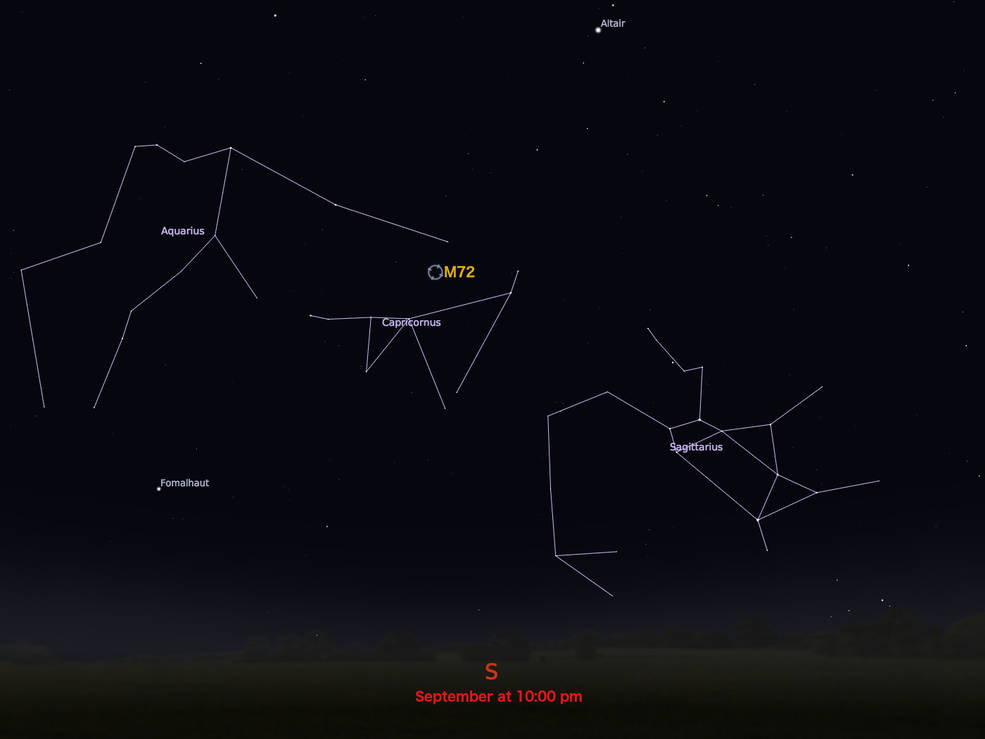 locator star chart for M72