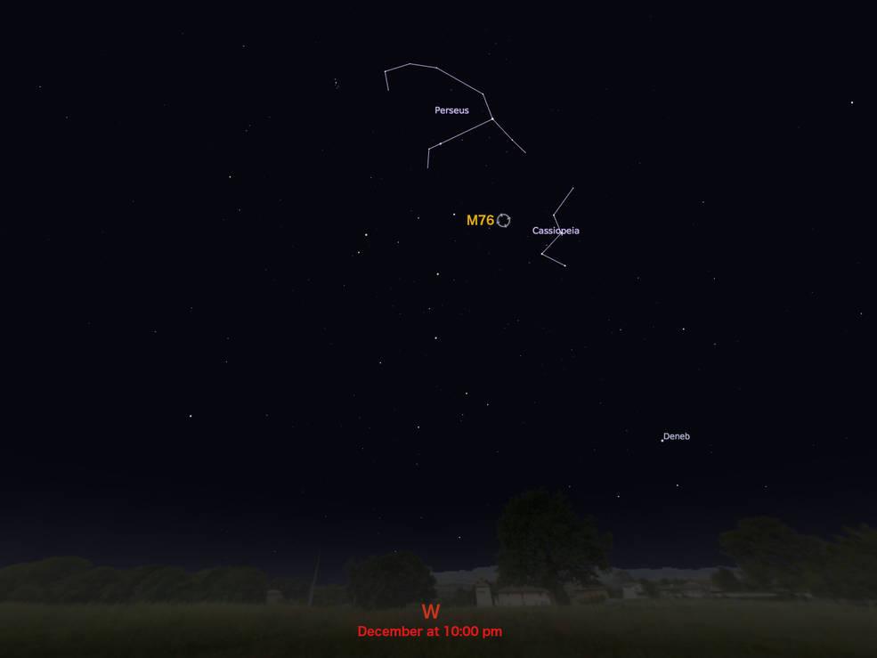 locator star chart for M76
