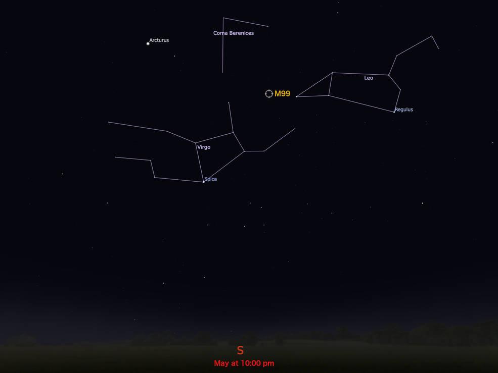 locator star chart for M99