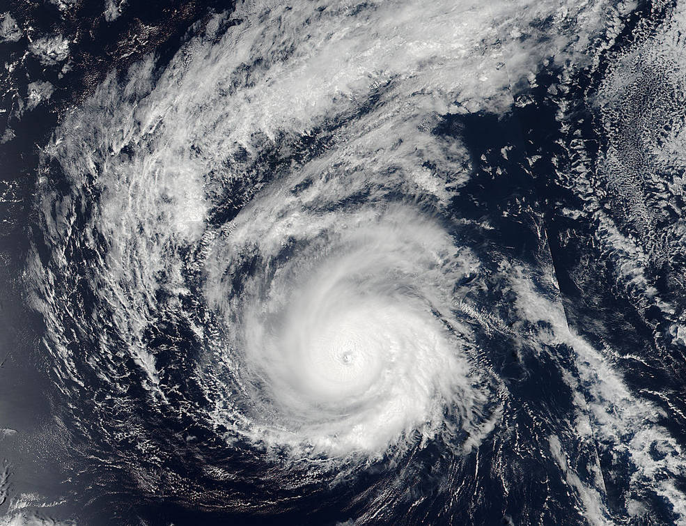 Satellite image of Hurricane Madeline near Hawaii