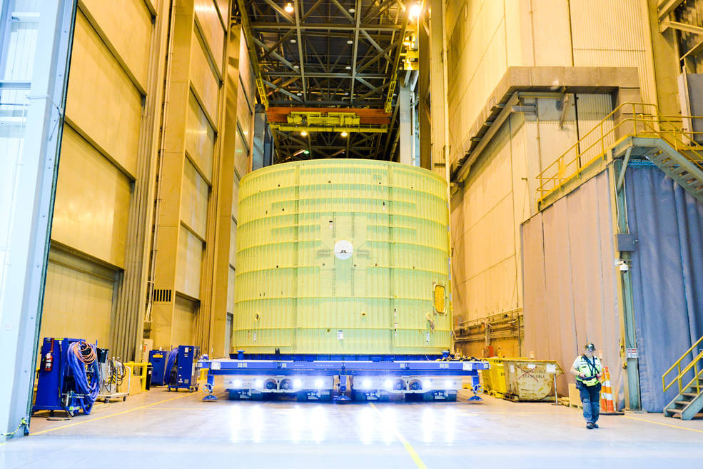 SLS Interank Completes Structural Assembly