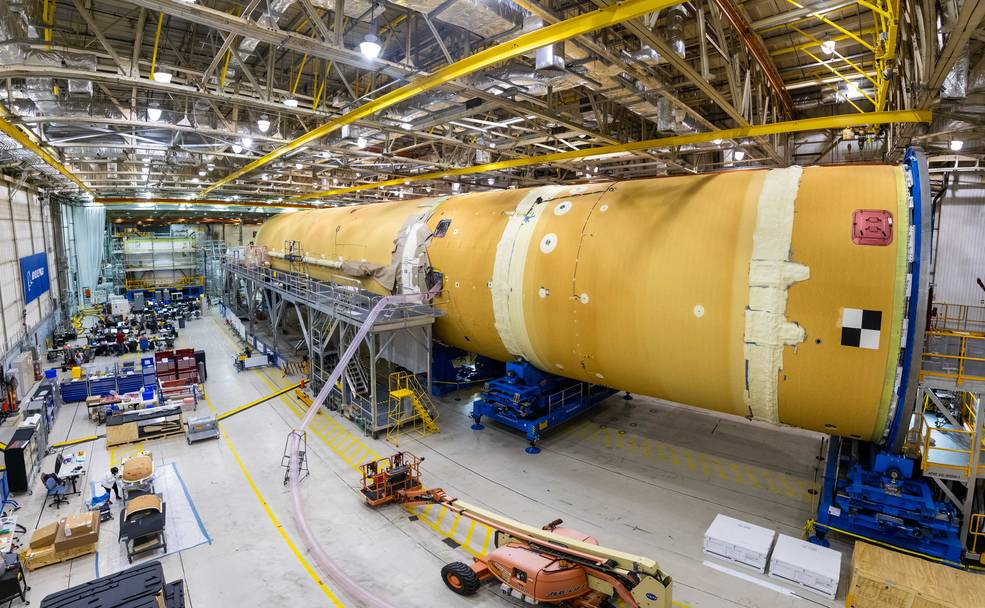 first core stage that will help power the agency's Space Launch System