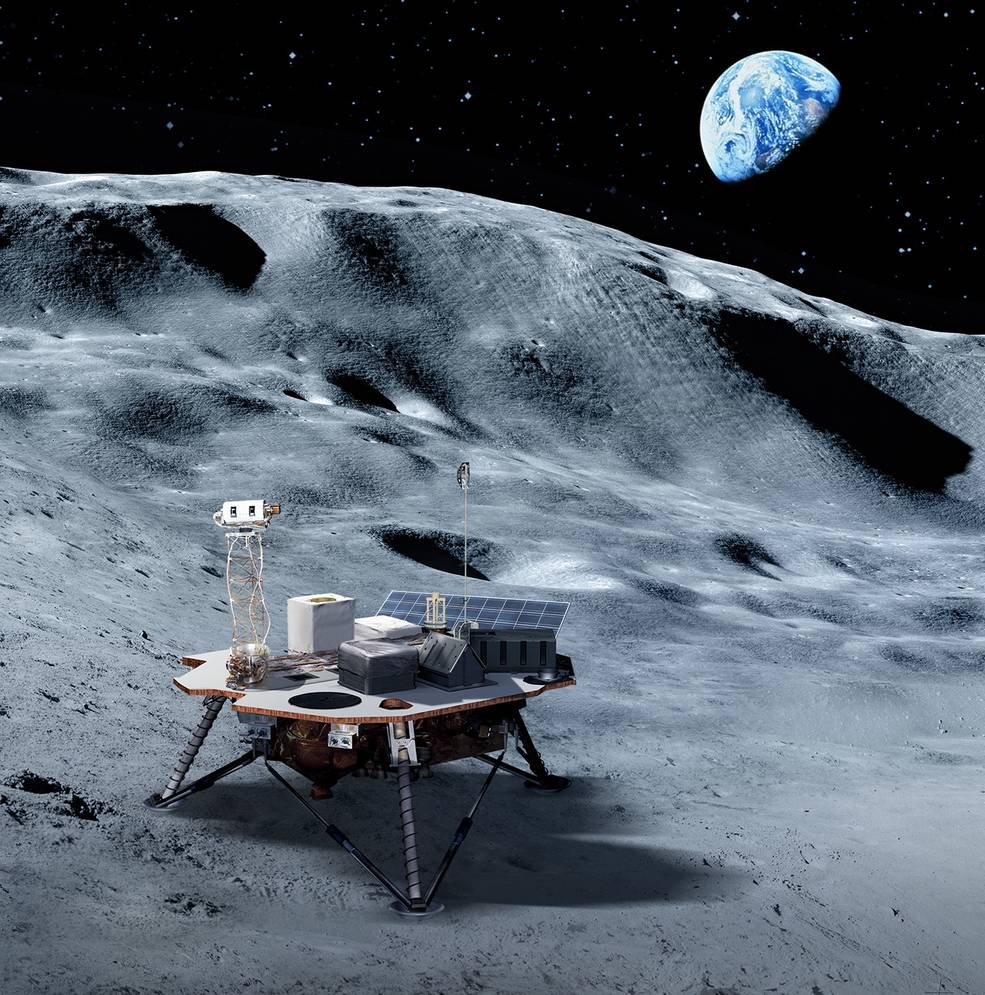 Commercial landers will carry NASA-provided science and technology payloads to the lunar surface