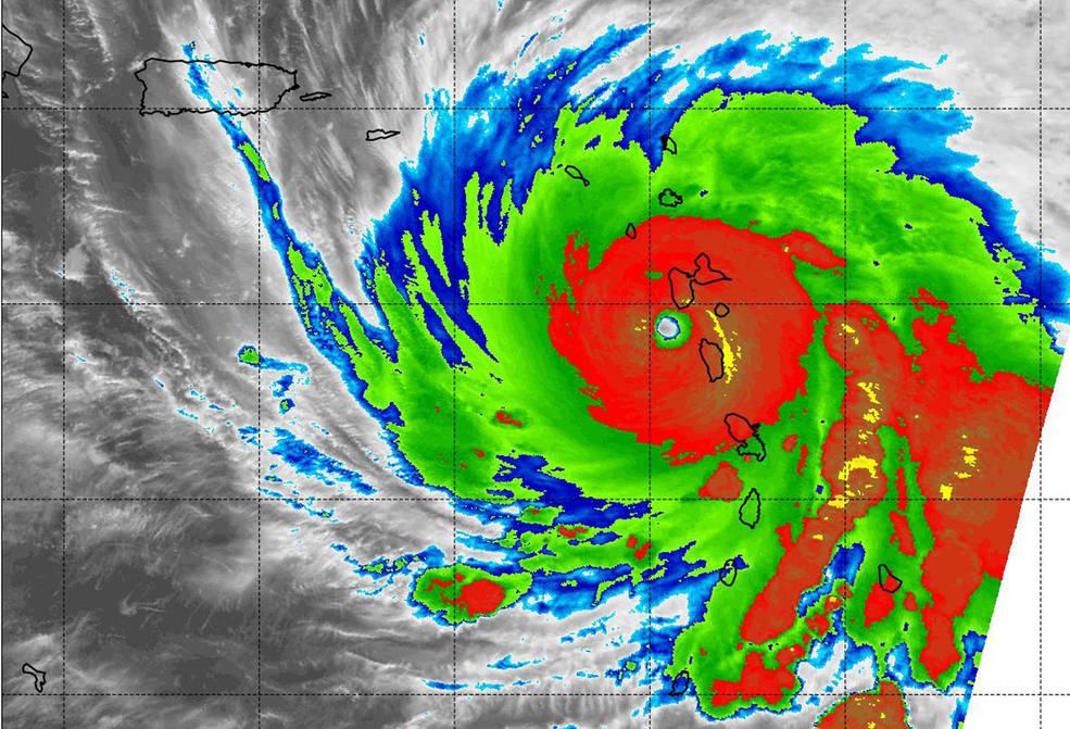 MODIS image of Maria
