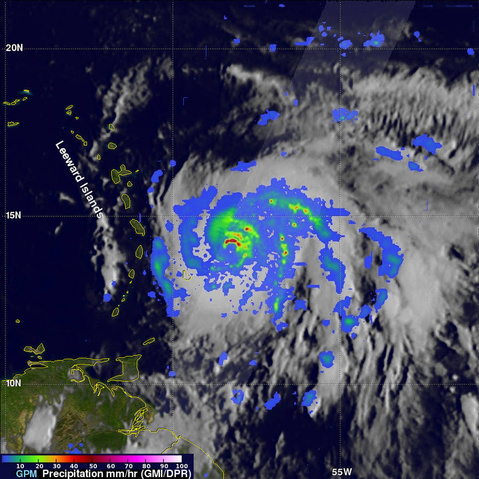 GPM image of Maria