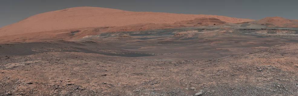 A mosaic image of Mars