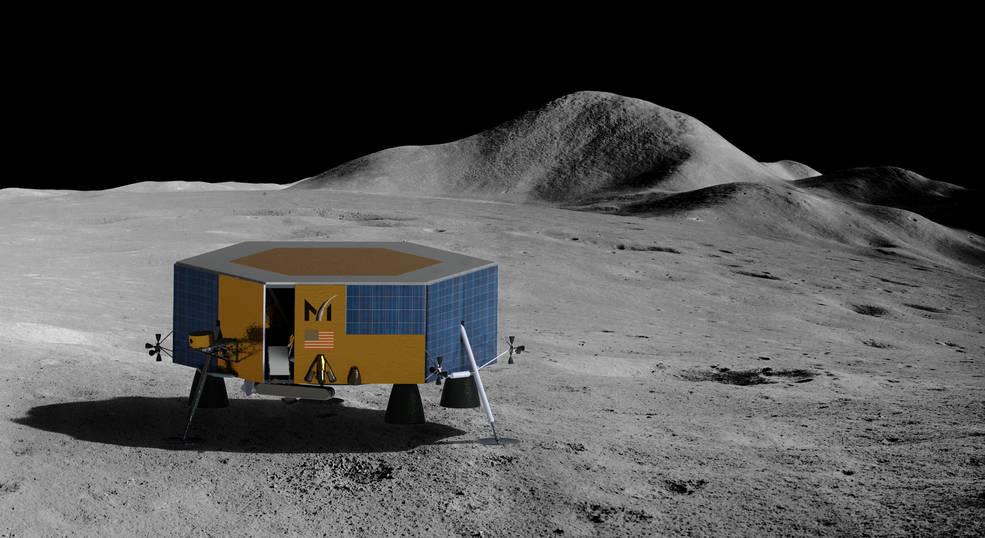[Artemis] Contrats pour acheminer des CU sur la Lune (CLPS) - Page 2 Masten_lunar_lander_0