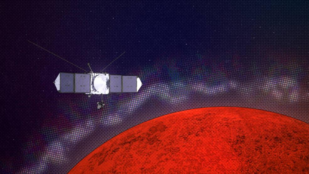 پدیدهای که به آشفتگیهای رادیویی در زمین می انجامد در مریخ هم دیده شده