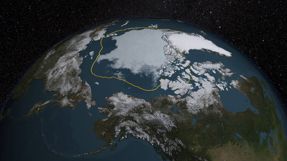 In illustration of Arctic sea ice.