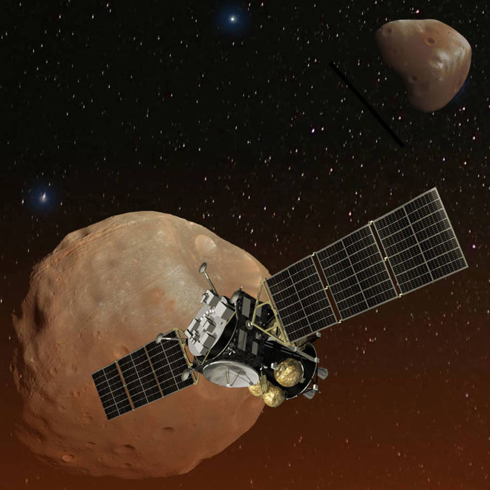 Artist's concept of Japan's Mars Moons eXploration (MMX) spacecraft