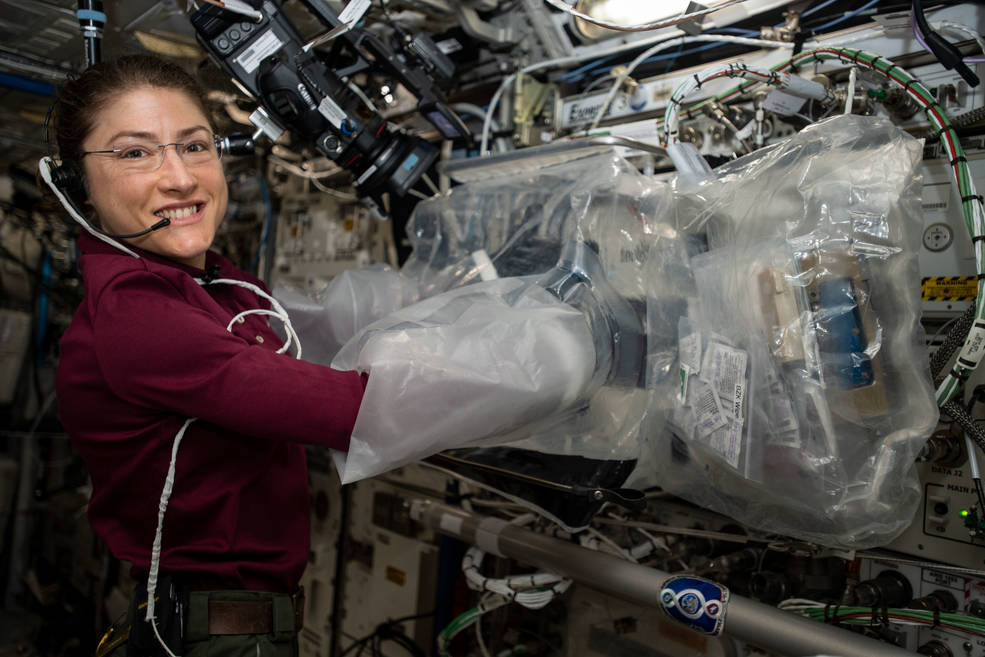 Expedition 60 Flight Engineer Christina Koch