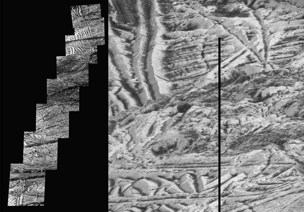 mosaic of Jupiter's moon Europa