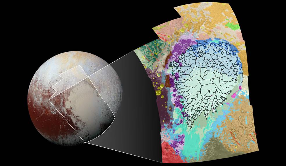 Pluto's varied terrains
