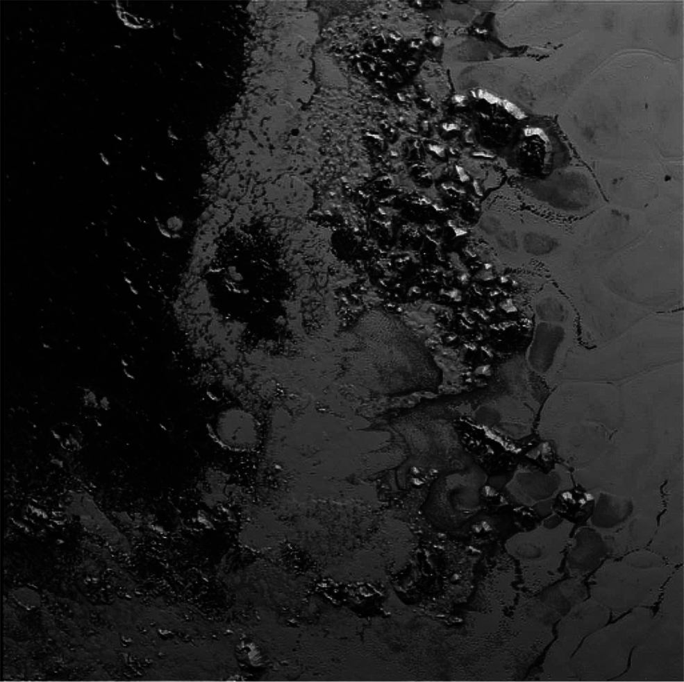 Pluto's mountain range