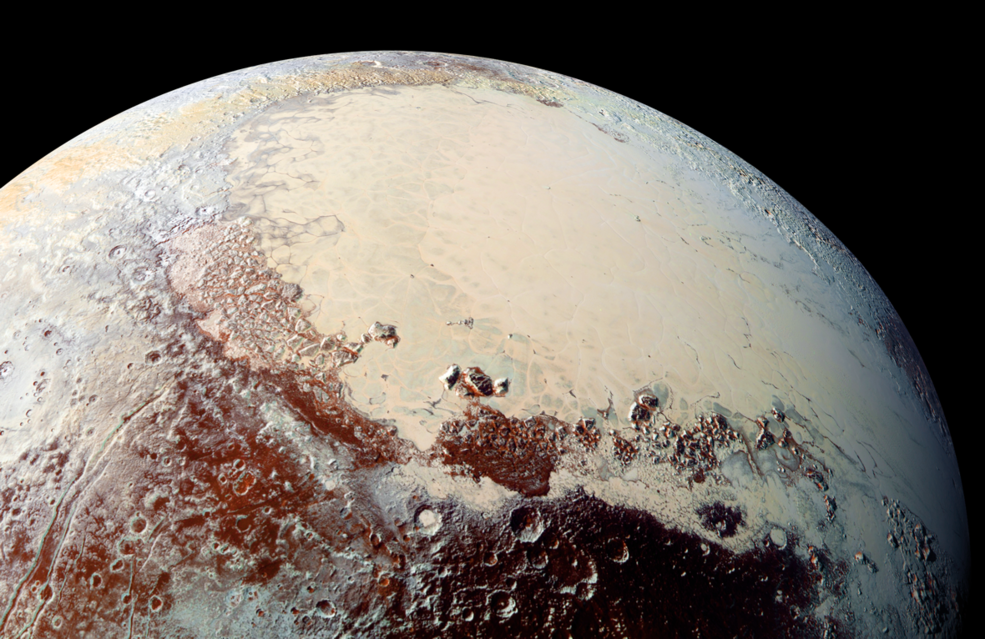 High resolution image of Pluto taken by New Horizons mission.