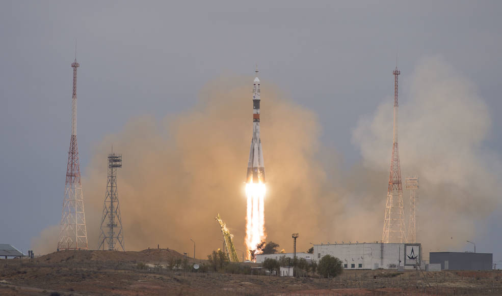 Launch of Expedition 49 crew to ISS on Oct. 19, 2016.