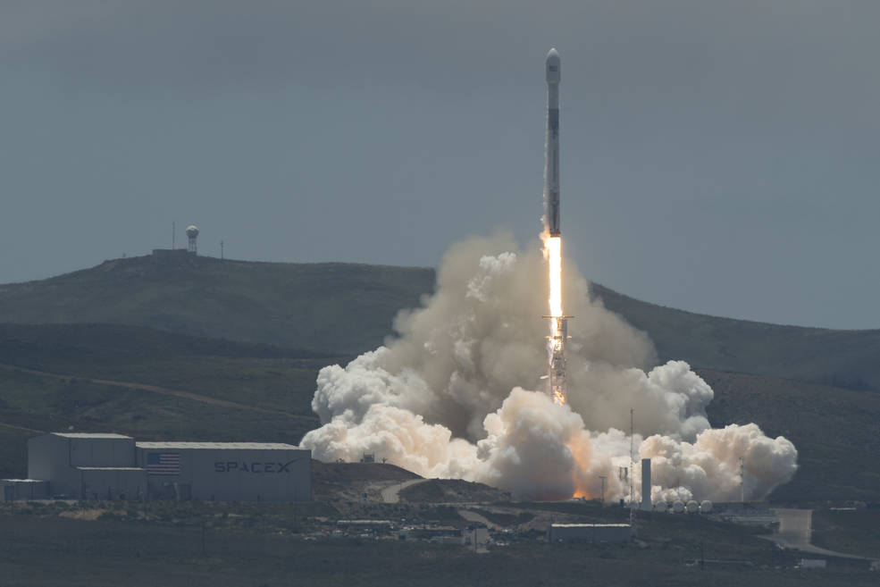 The NASA/German Research Centre for Geosciences GRACE Follow-On spacecraft launch onboard a SpaceX Falcon 9 rocket