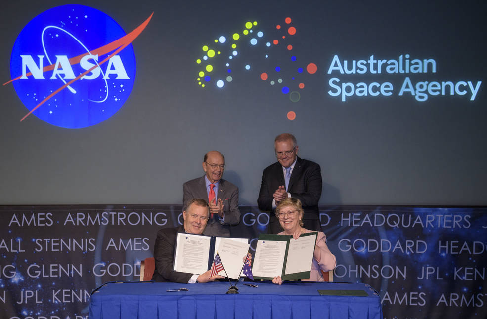Signing of a letter of intent between NASA and the Australian Space Agency