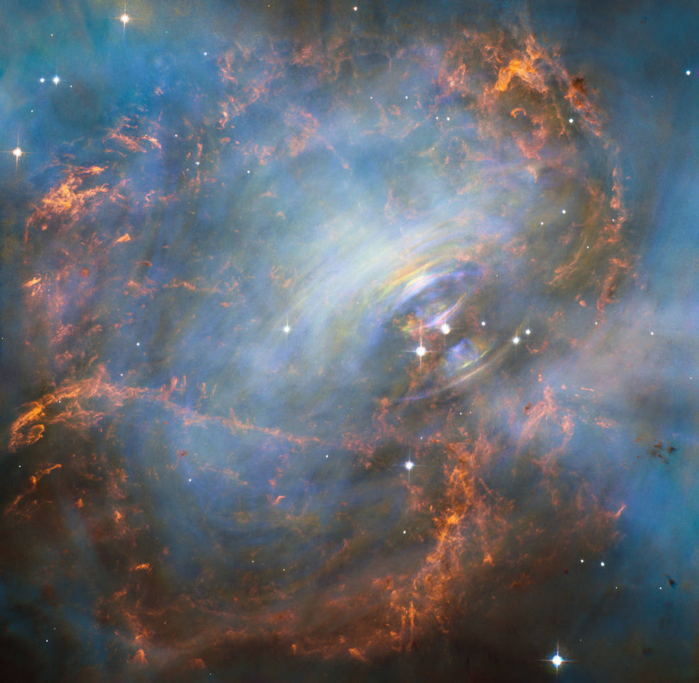 The Crab Nebula dazzles in a new close-up photo taken by Hubble