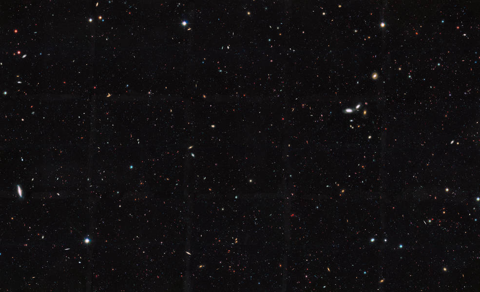 star field that's actually galaxies