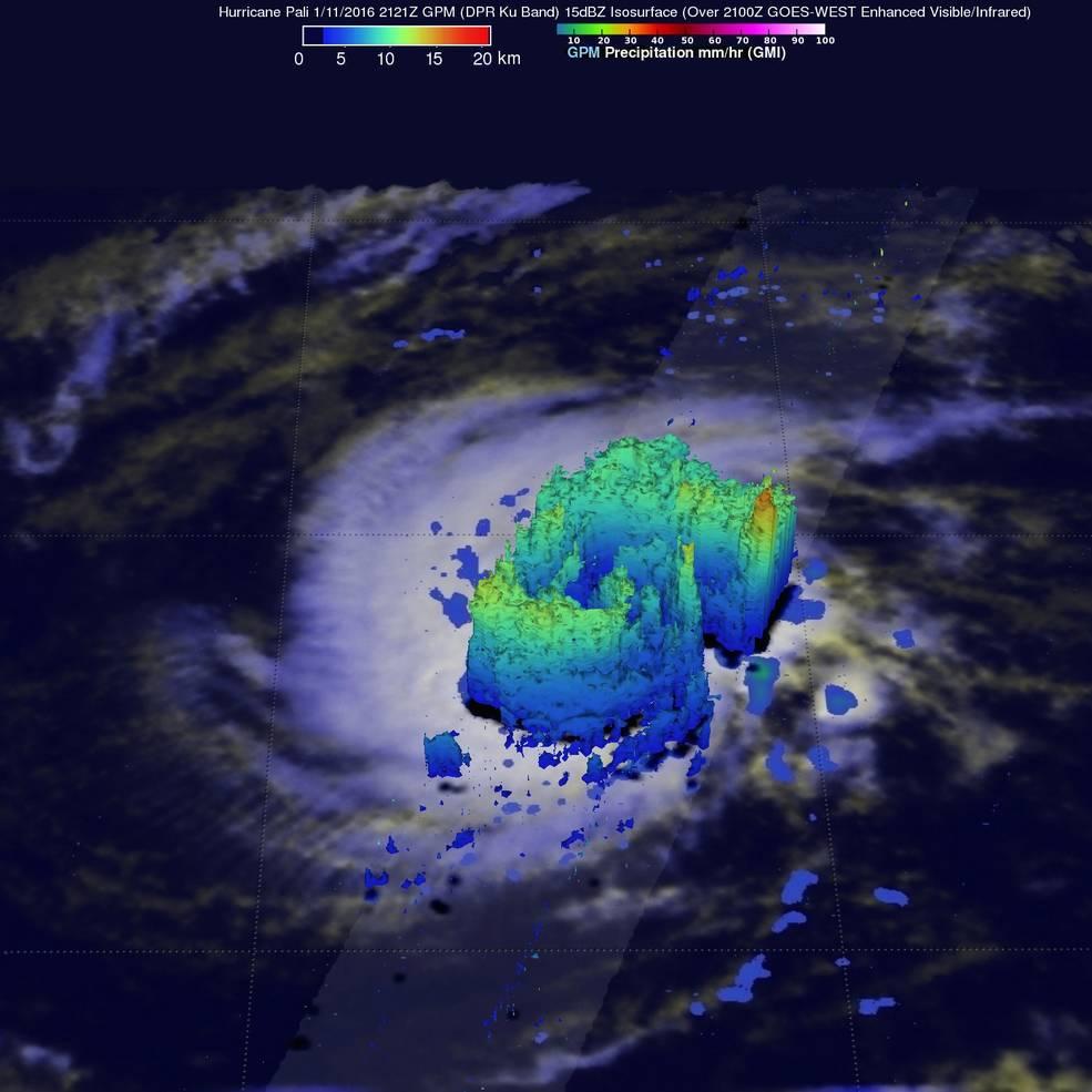 Radar slice of Pali hurricane showing an eye
