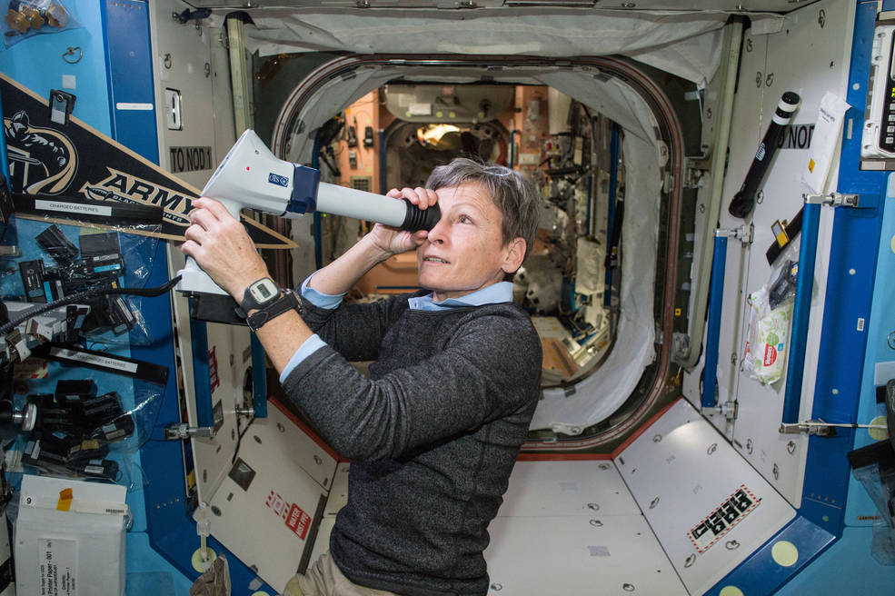 NASA astronaut and Expedition 51 commander Peggy Whitson