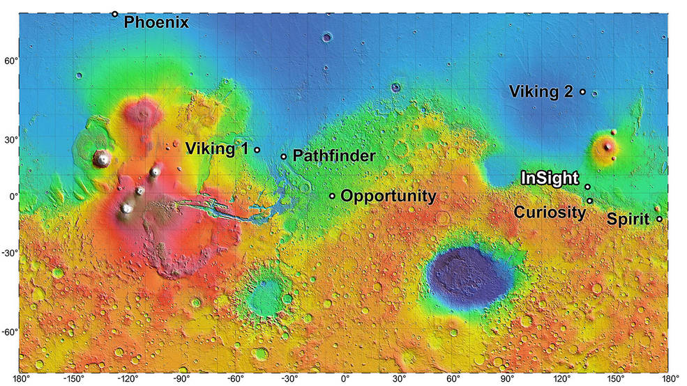 The landing site for InSight