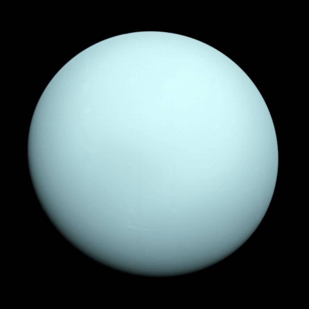 Uran, snímek ze sondy Voyager 2
