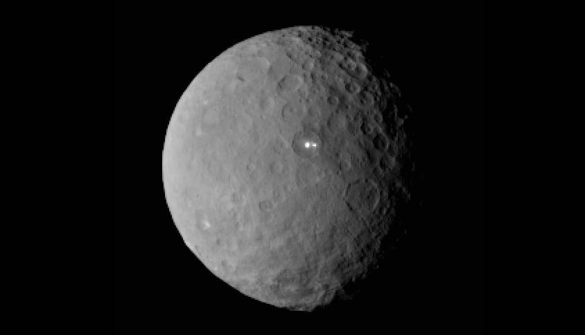 Ceres with Brights Spots in Occator Crater.
