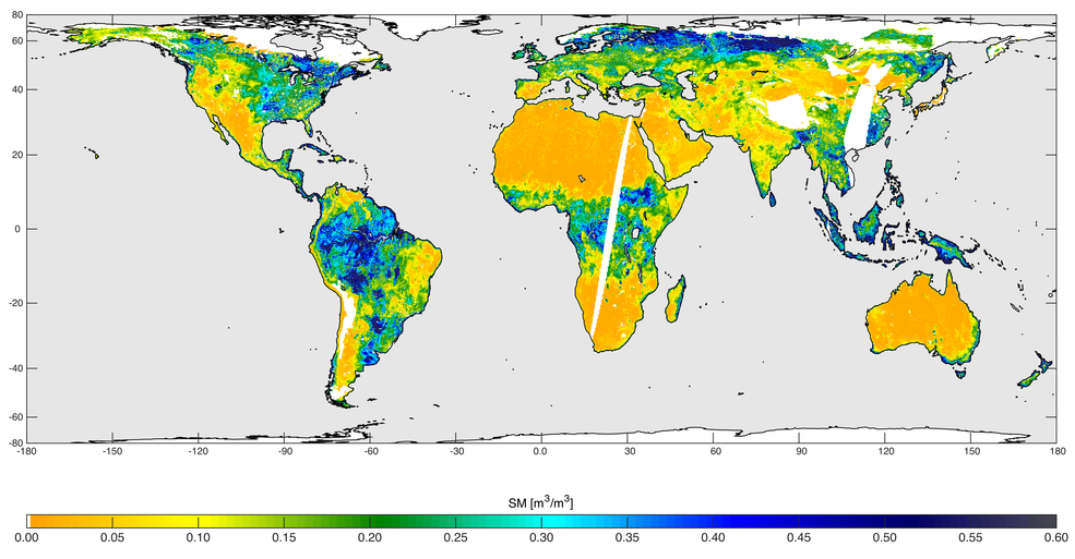 High-resolution global soil moisture map