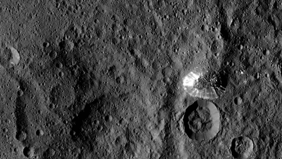 Recent image of Ceres from the Dawn probe, linked from NASA server
