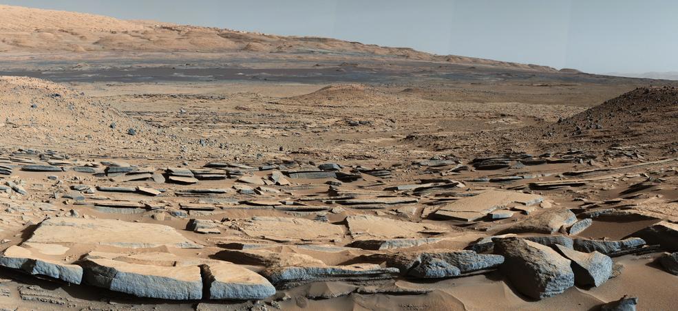"""Una imagen de la formación """"Kimberley"""" captada por el rover Curiosity de la NASA."""
