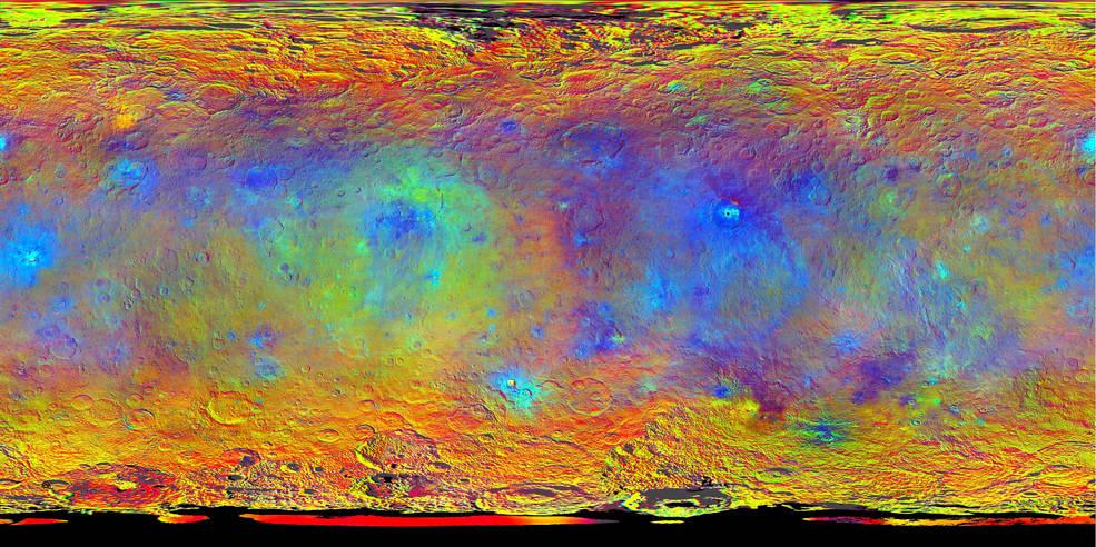Nyt kort over dværgplaneten Ceres