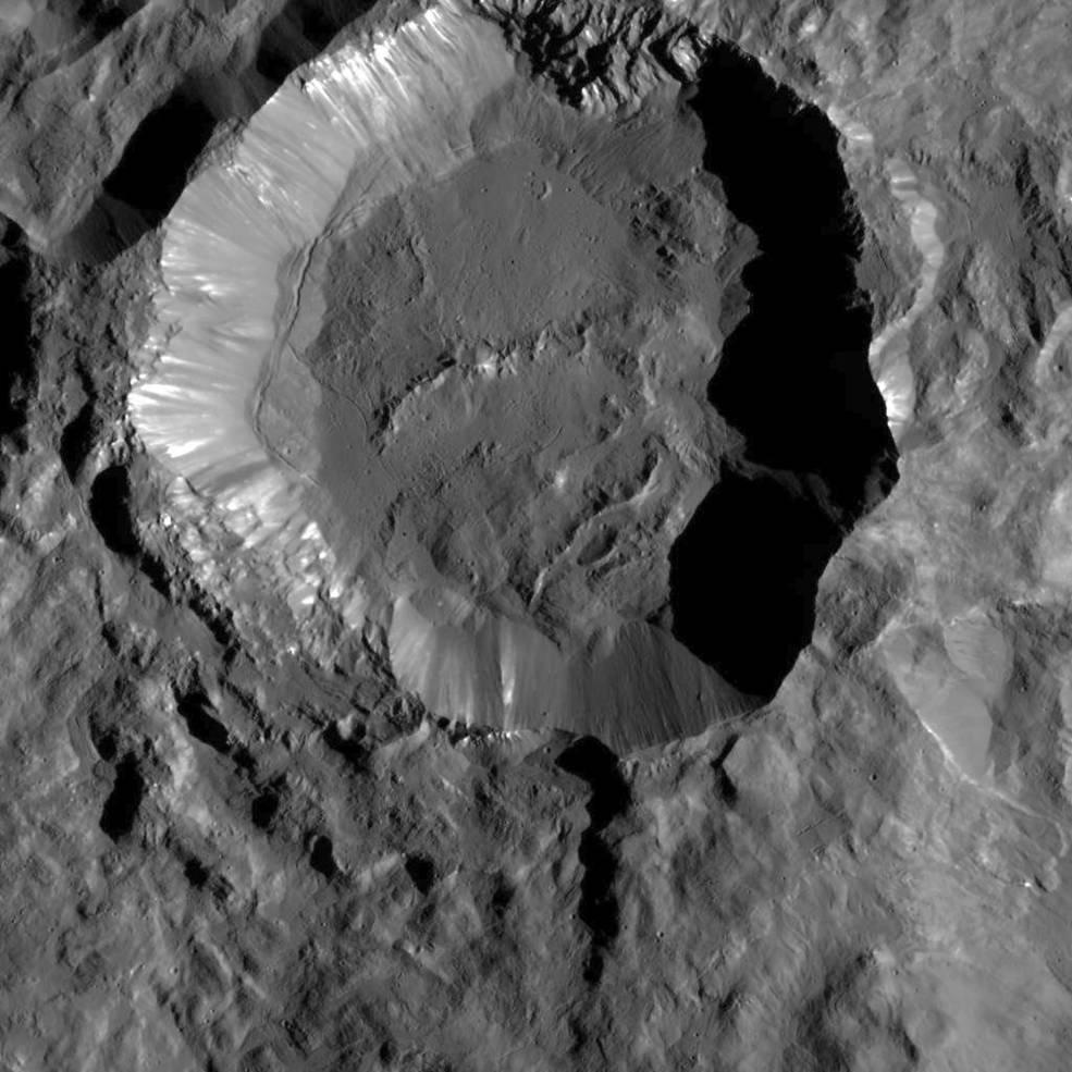 Dantu kratret på småplaneten Ceres