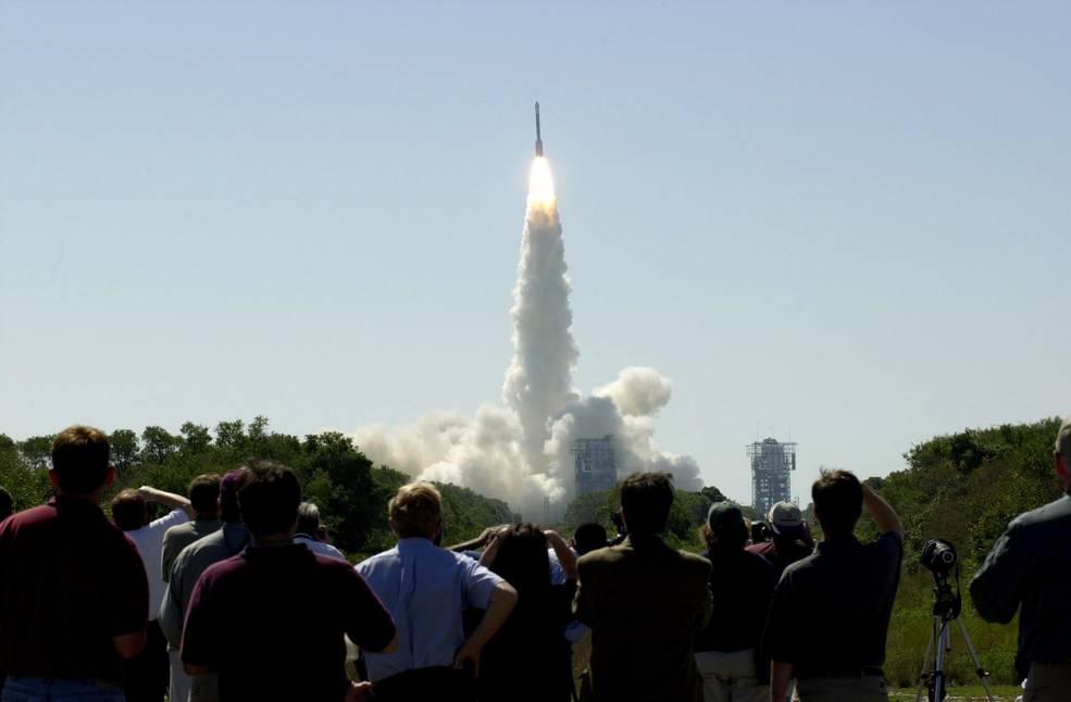 Lanzamiento de Odyssey a Marte el 7 de abril de 2001